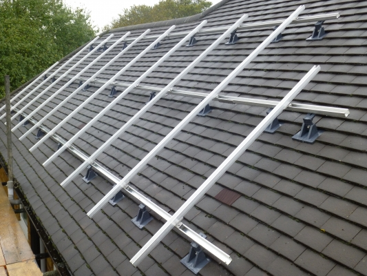 Solar panel installation Thorpe