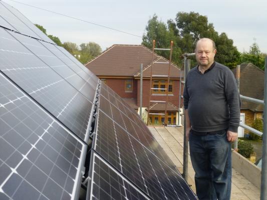 Solar panel installation Thorpe