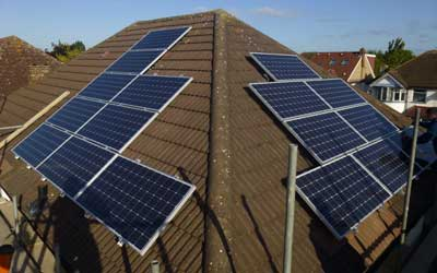 Harrow solar panels