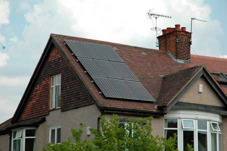 West Finchley solar panels