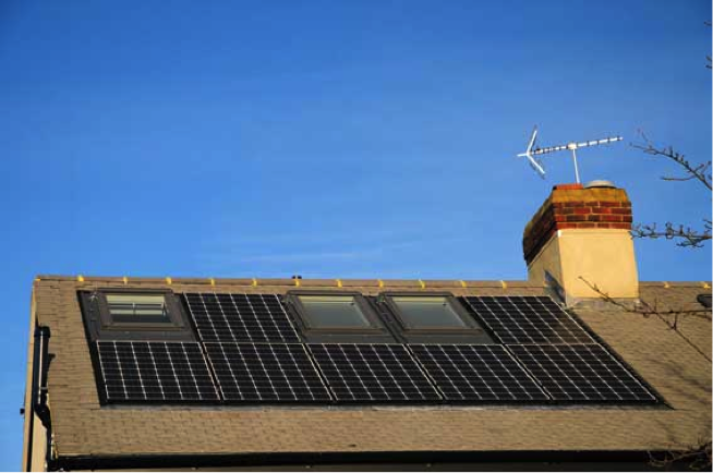 in roof solar panel with velux